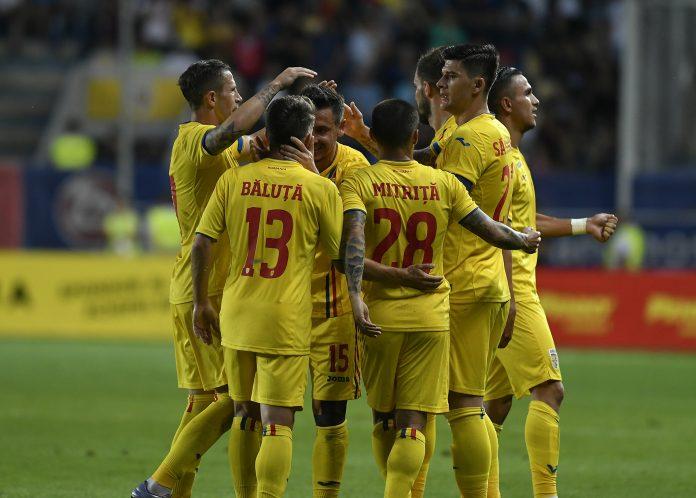 Nationala de fotbal a Romaniei in meciul amical cu Finlanda, de la Ploiesti