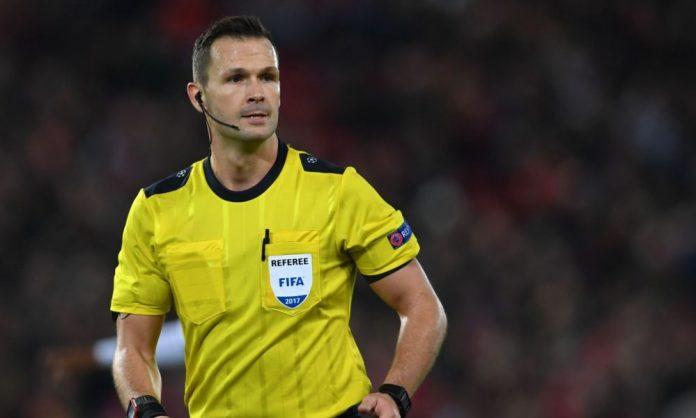 Ivan Kruzliak va arbitra partida dintre Romania si Muntenegru
